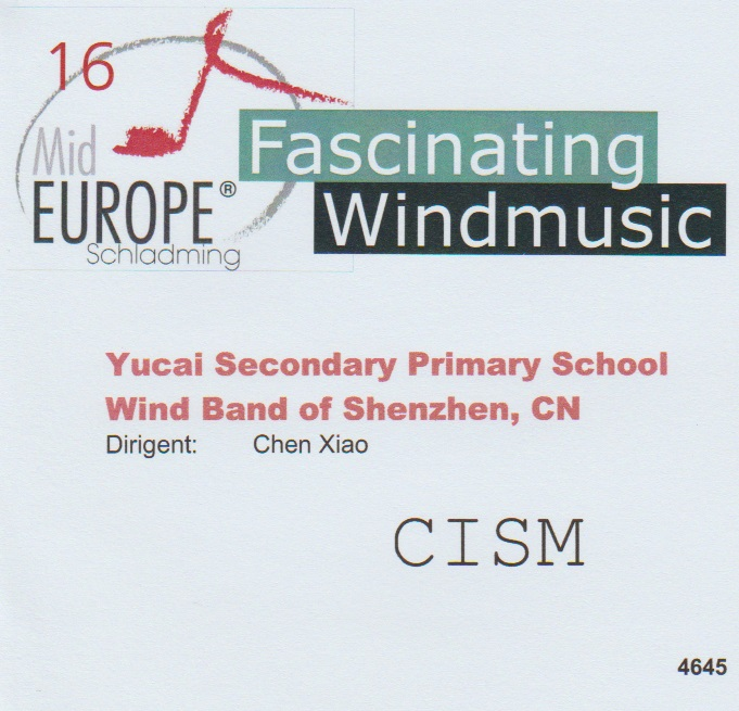 16 Mid Europe: Yucai Secondary Primary School Wind Band of Shenzhen - hier klicken
